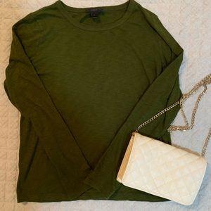 Olive Green Long Sleeve J.CREW Shirt